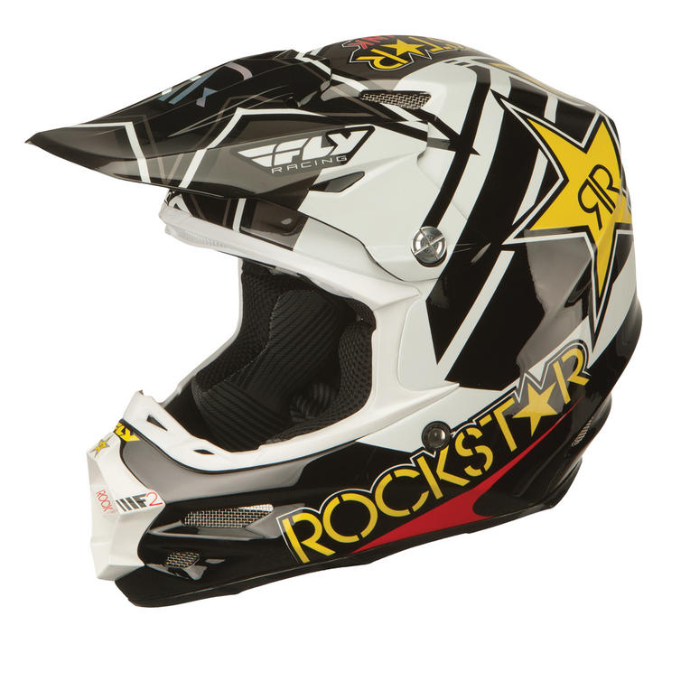 Fly Racing 2016 F2 Carbon Rockstar Motocross Helmet
