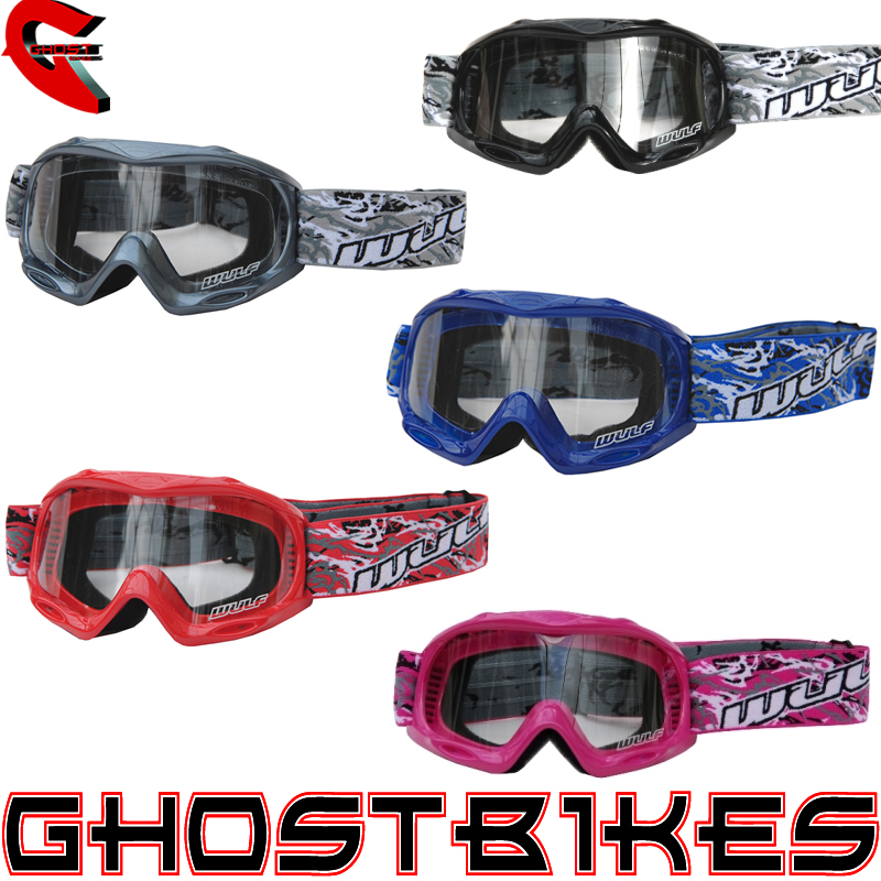 WULFSPORT CUB ABSTRACT JUNIOR KIDS ANTI-FOG MOTOCROSS HELMET WULF MX MTB GOGGLES Enlarged Preview