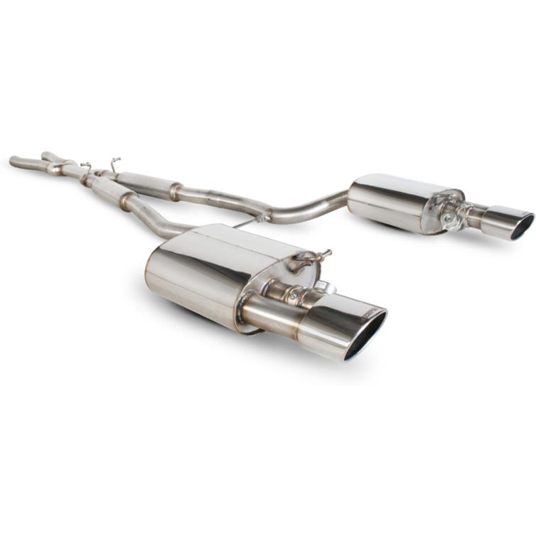 Scorpion Exhaust Cat-Back (Res) Twin Evo R - Audi RS4 4.2 V8 B7 06-08