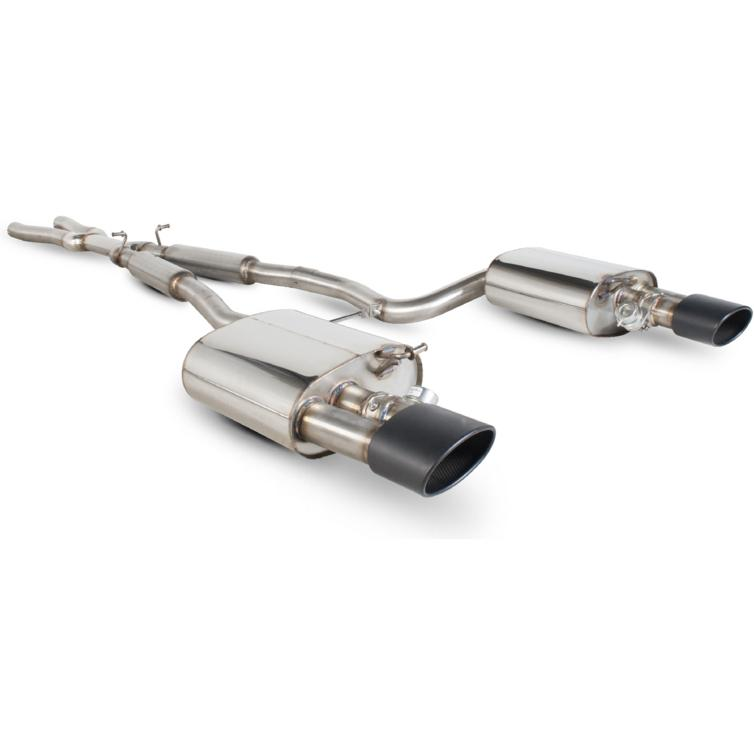 Scorpion Exhaust Cat-Back (Res) Twin Evo R BLK - Audi RS4 4.2 V8 B7 06-08