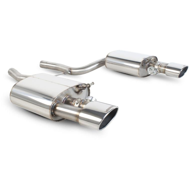 Scorpion Exhaust Rear Silencers Only Twin Evo R - Audi RS4 4.2 V8 B7 06-08