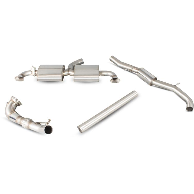 Scorpion Exhaust Turbo-Back De-Cat System - Audi TT RS 09+