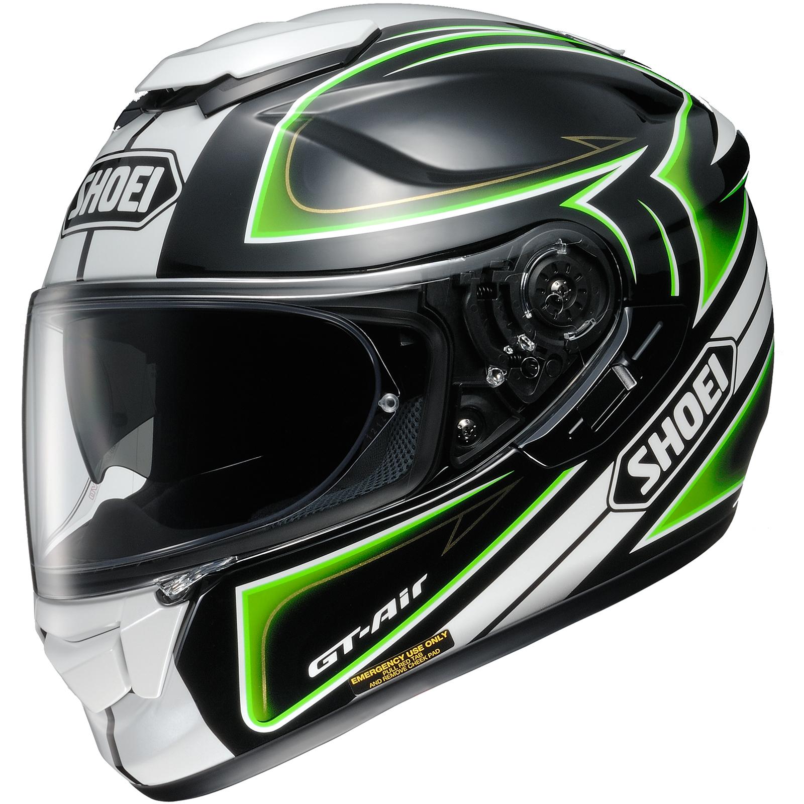 shoei gt air expanse white black green motorcycle helmet visor motorbike race ebay. Black Bedroom Furniture Sets. Home Design Ideas