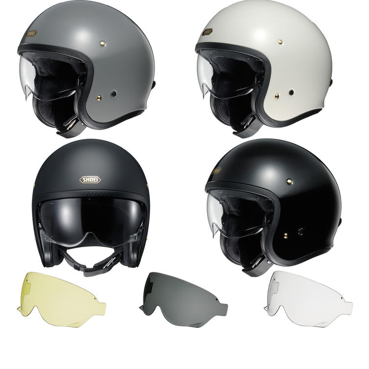 Shoei J.O Open Face Motorcycle Helmet & Visor