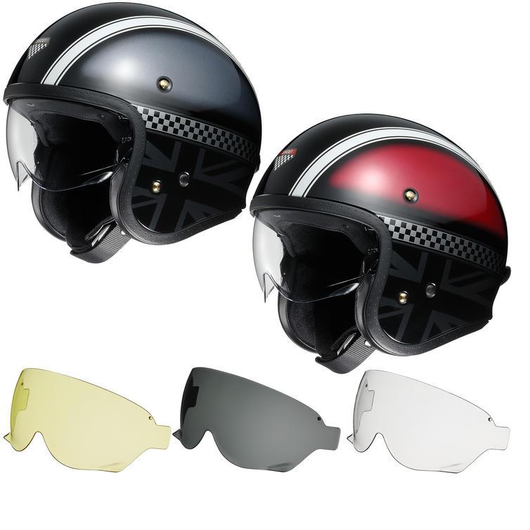 Shoei J.O Hawker Open Face Motorcycle Helmet & Visor