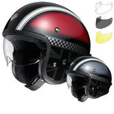 Shoei J.O Hawker Open Face Motorcycle Helmet & Visor