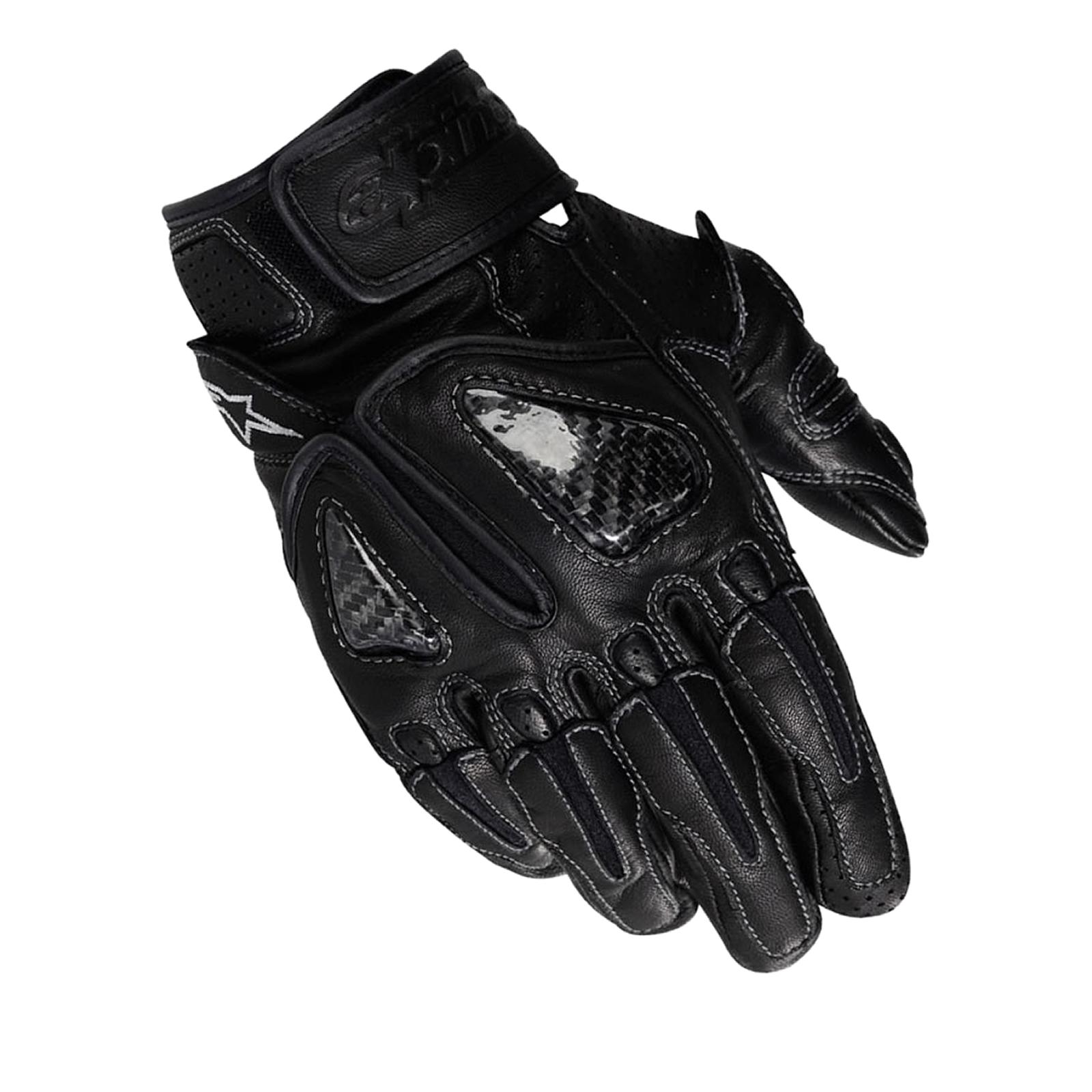 Motorcycle gloves cruiser - Image Is Loading Alpinestars Sps Short Summer Leather Sports Cruiser Motorbike