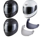 THH TS-31Y Plain Youth Full Face Motorcycle Helmet & Tinted Visor Kit