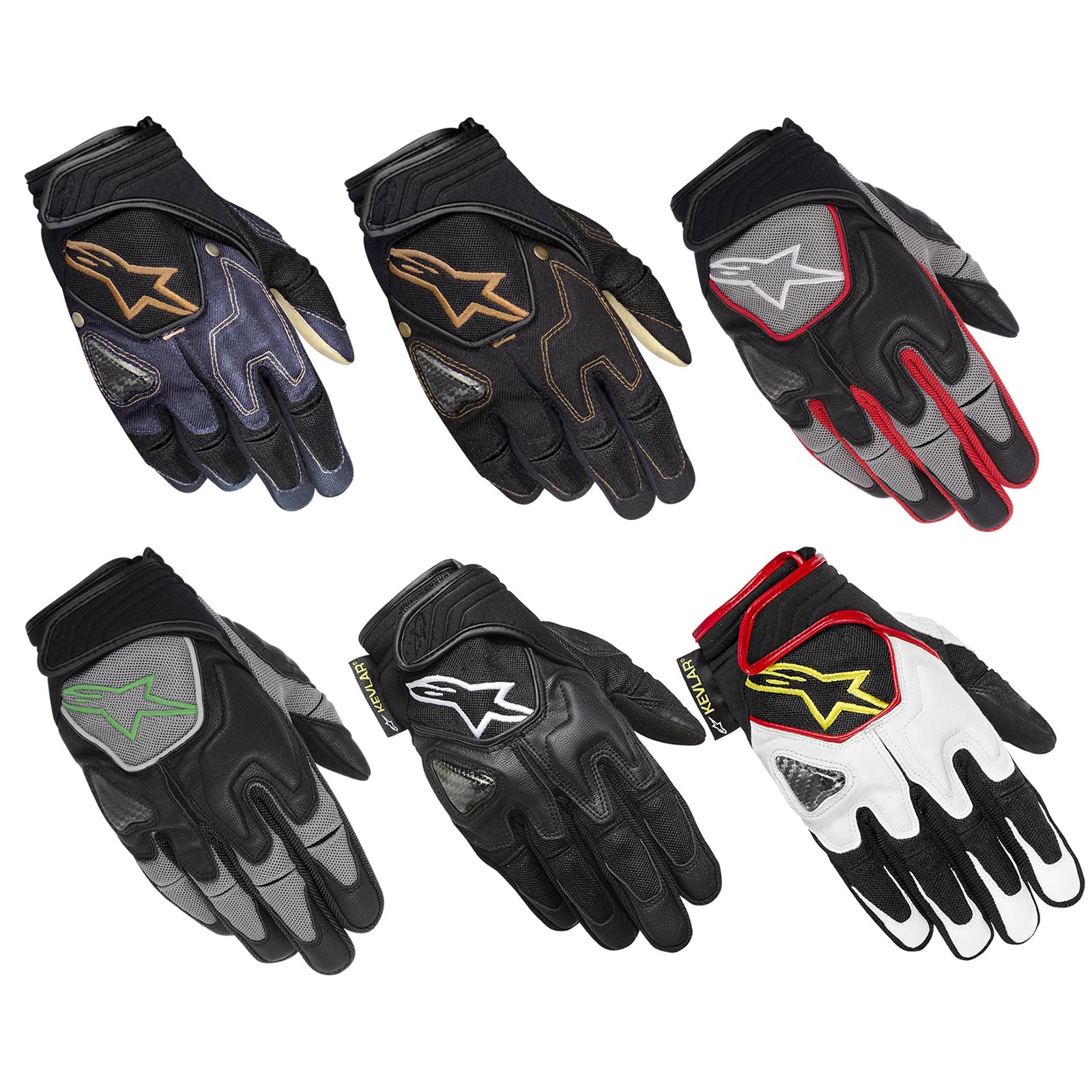 Motorcycle gloves for summer - Alpinestars Scheme Kevlar Motorcycle Short Motorbike Summer
