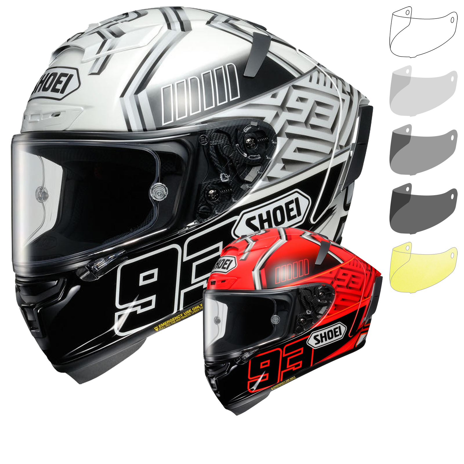 shoei x spirit 3 marquez motorcycle helmet visor x spirit 3 helmets. Black Bedroom Furniture Sets. Home Design Ideas