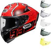 Shoei X-Spirit 3 Marquez Motorcycle Helmet & FREE Visor
