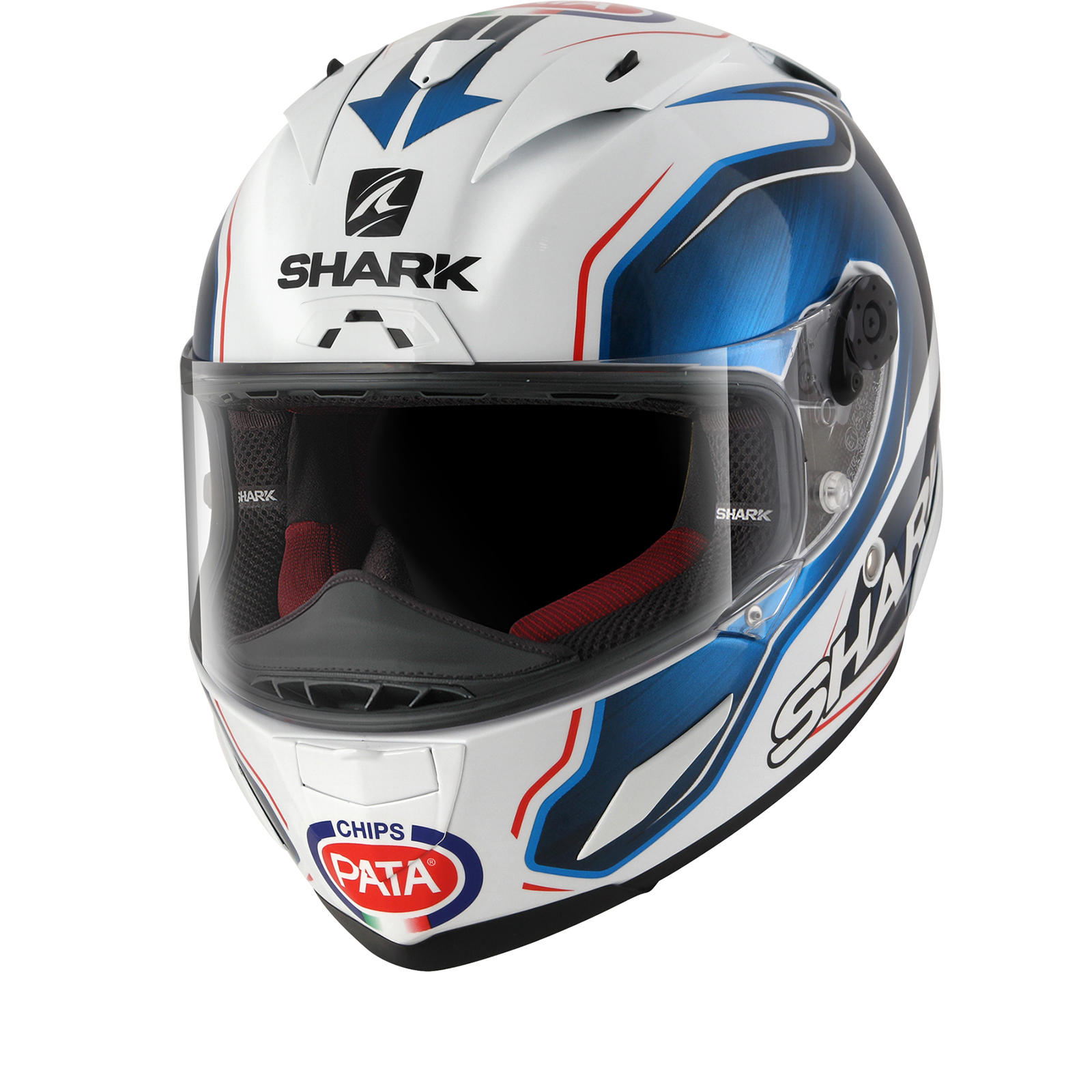 shark race r pro guintoli replica motorcycle helmet racing removable interior ebay. Black Bedroom Furniture Sets. Home Design Ideas