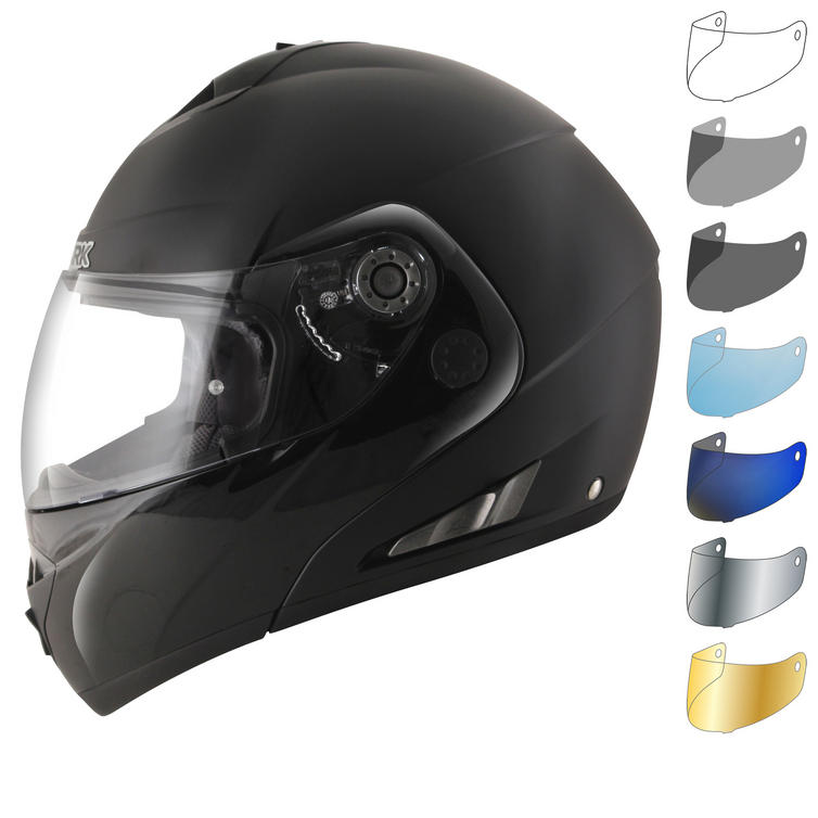 Shark OpenLine Pinlock Dual Black Flip Front Motorcycle Helmet & Visor