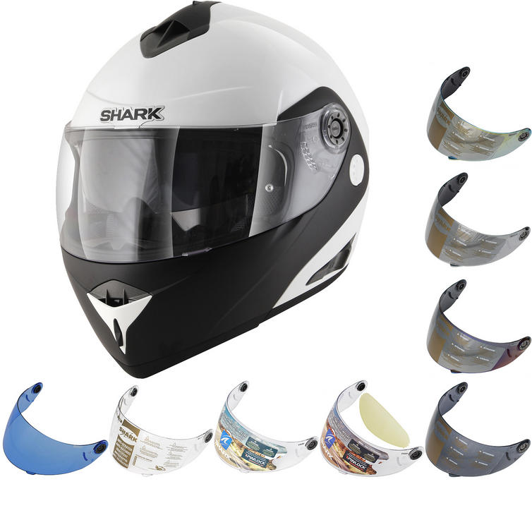 Shark OpenLine Pinlock D-Tone Flip Front Motorcycle Helmet & Visor
