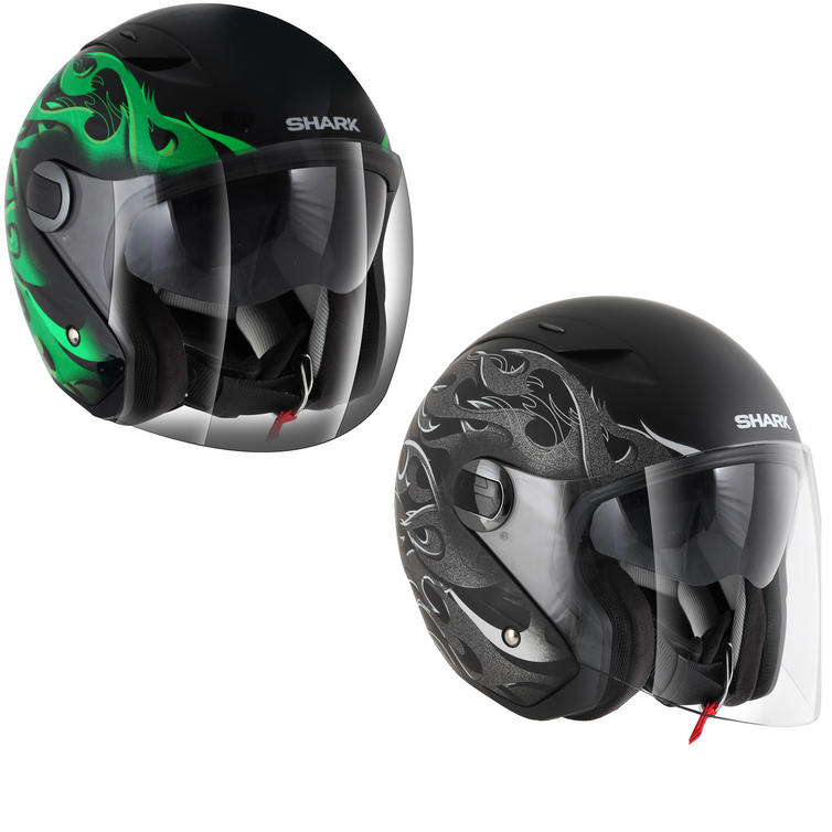 Shark RSJ Hotspur Open Face Motorcycle Helmet