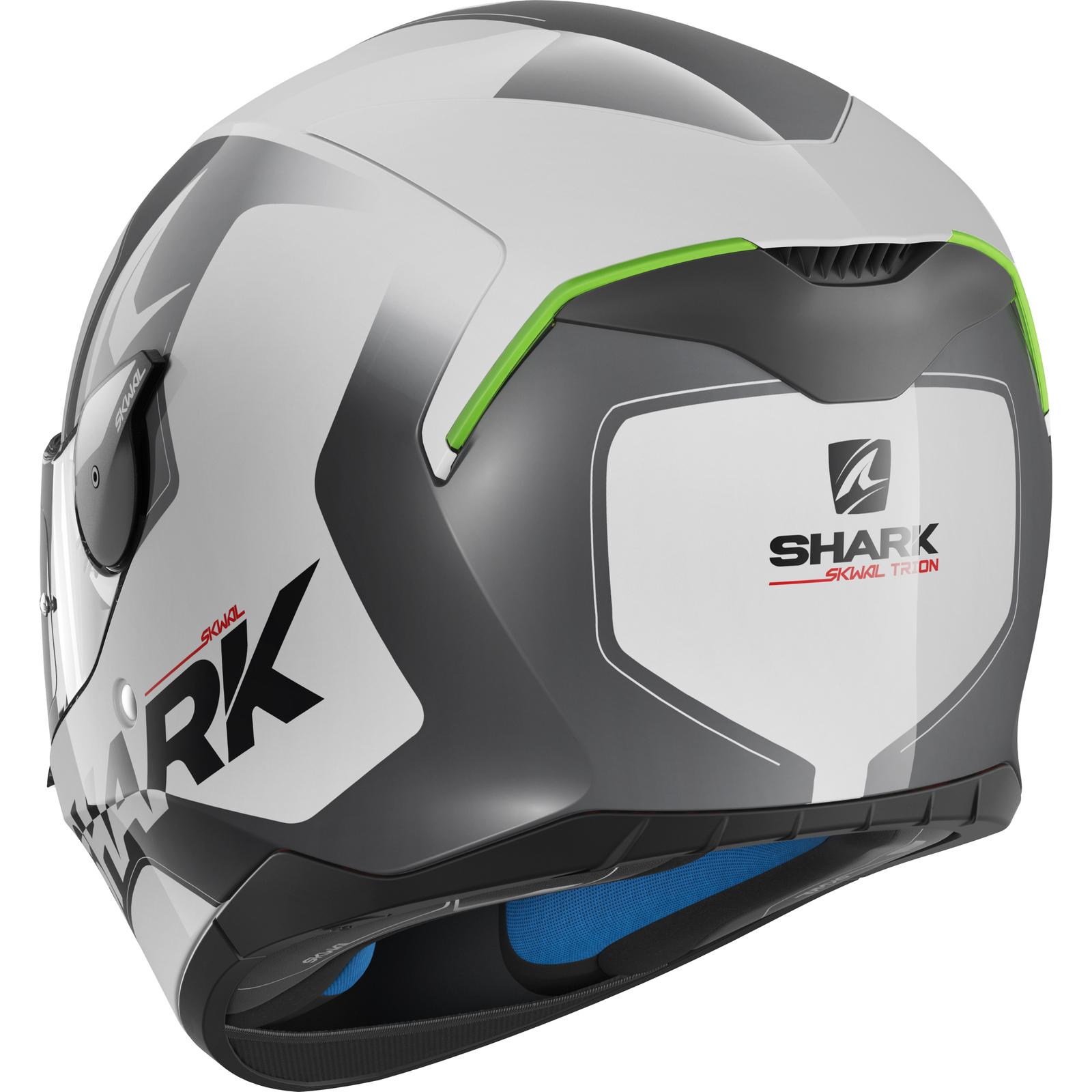 shark skwal trion motorcycle helmet led full face bike crash internal sun visor ebay. Black Bedroom Furniture Sets. Home Design Ideas