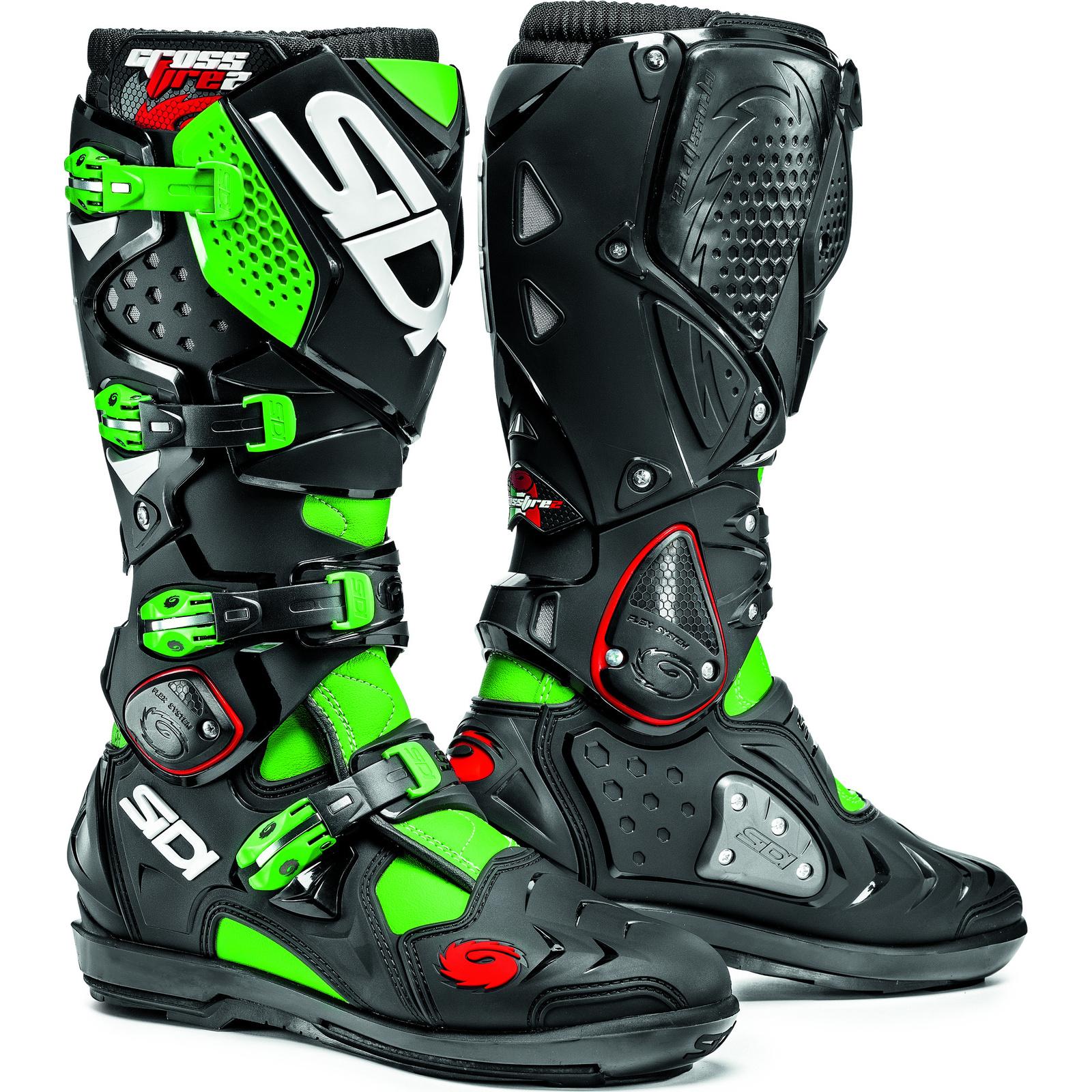 Sidi Crossfire 2 Srs Motocross Boots Dirt Bike Moto X Quad