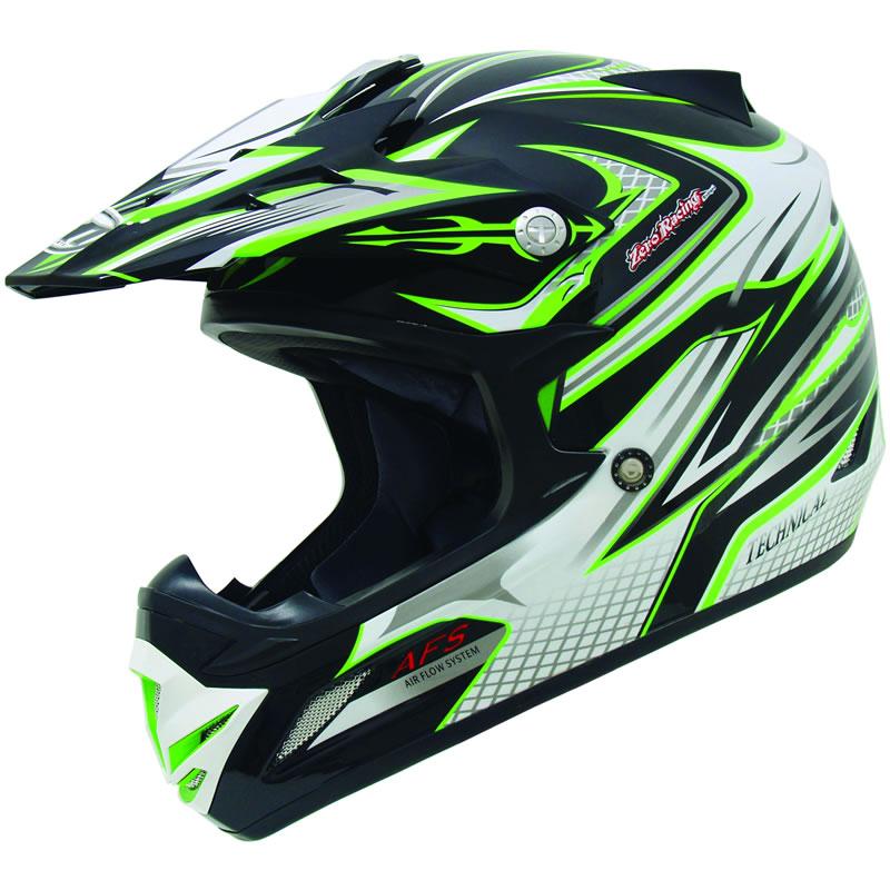 Green Dirt Bike Helmets Mt mx-1 technical mx atv quad enduro motocross ...