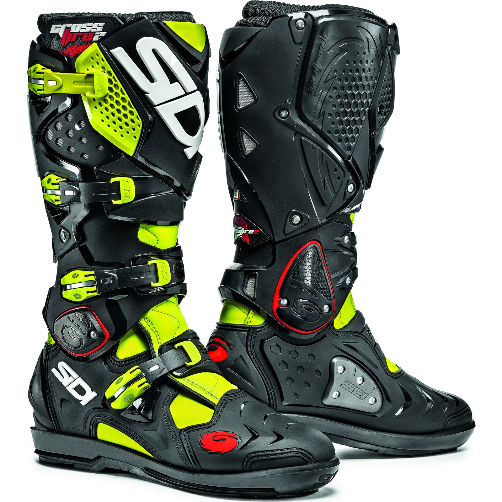 sidi crossfire 2 srs motocross boots dirt bike enduro moto x off road all sizes ebay. Black Bedroom Furniture Sets. Home Design Ideas