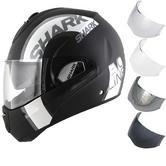 Shark Evoline S3 Drop Dual Touch Flip Front Motorcycle Helmet & Visor