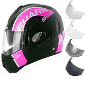 Shark Evoline S3 Drop Dual Touch Ladies Flip Front Motorcycle Helmet & Visor