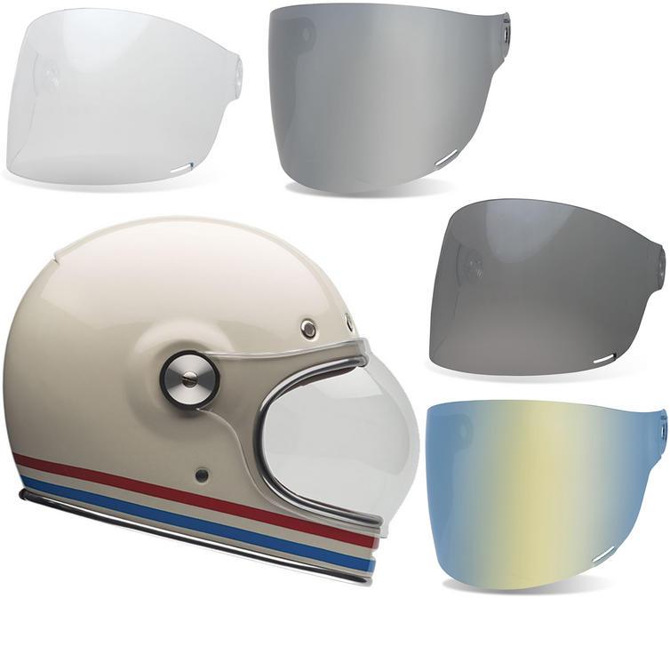 Bell Bullitt Stripes Motorcycle Helmet & Flat Shield Visor Kit Black Tab