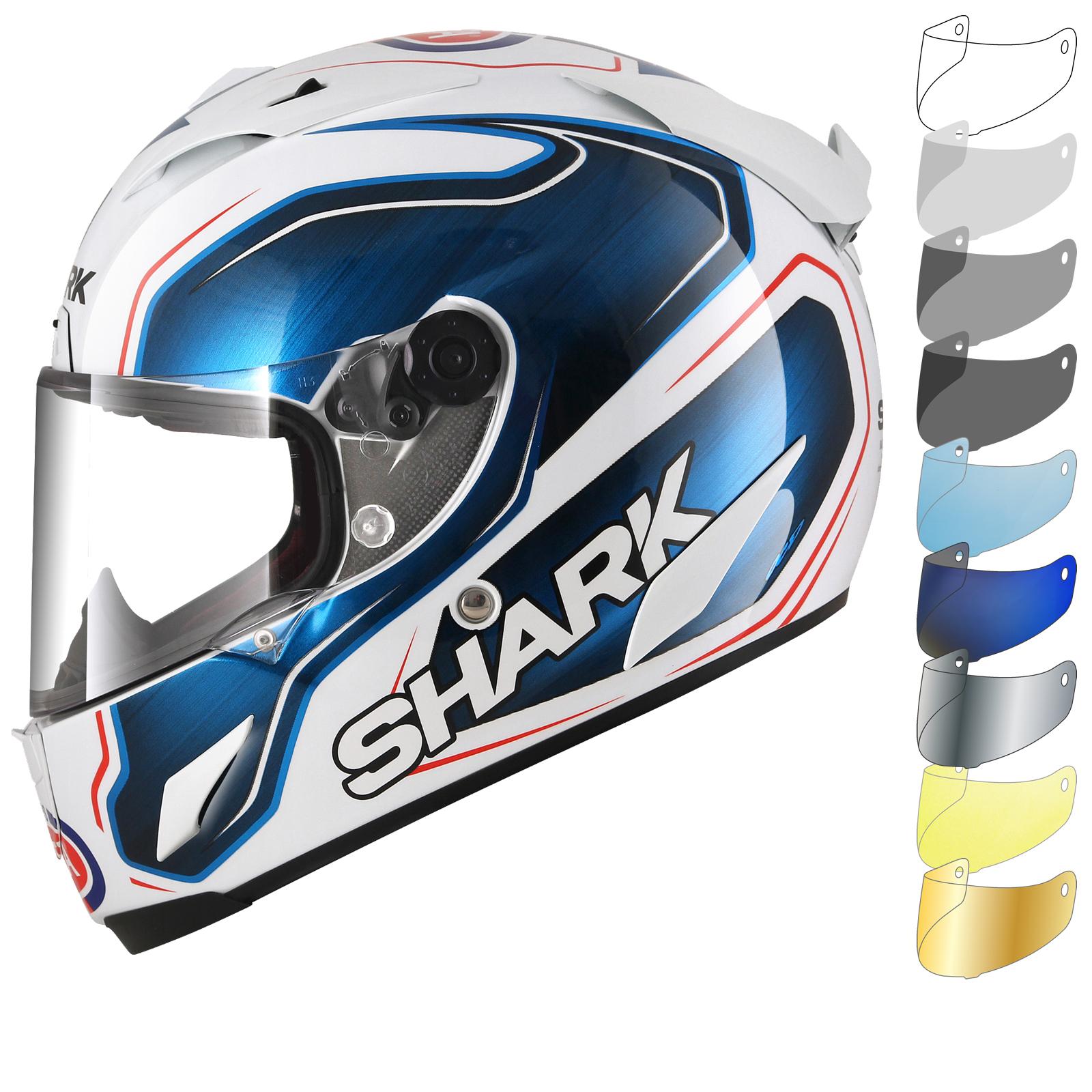 shark race r pro guintoli replica motorcycle helmet visor full face helmets. Black Bedroom Furniture Sets. Home Design Ideas