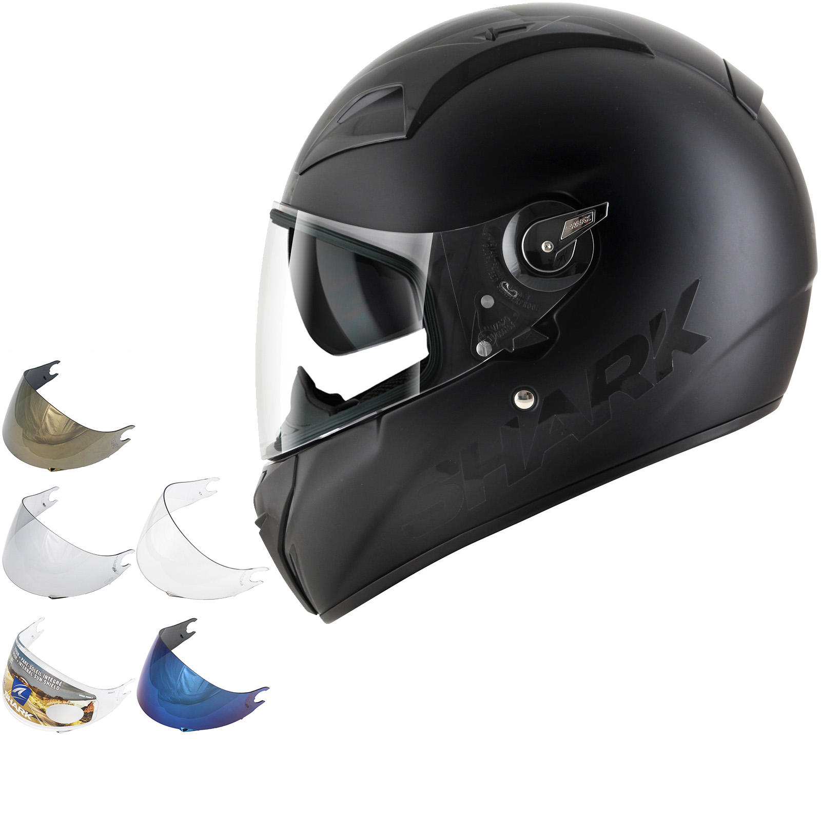 shark vision r series 2 dual black d tone motorcycle helmet visor full face helmets. Black Bedroom Furniture Sets. Home Design Ideas