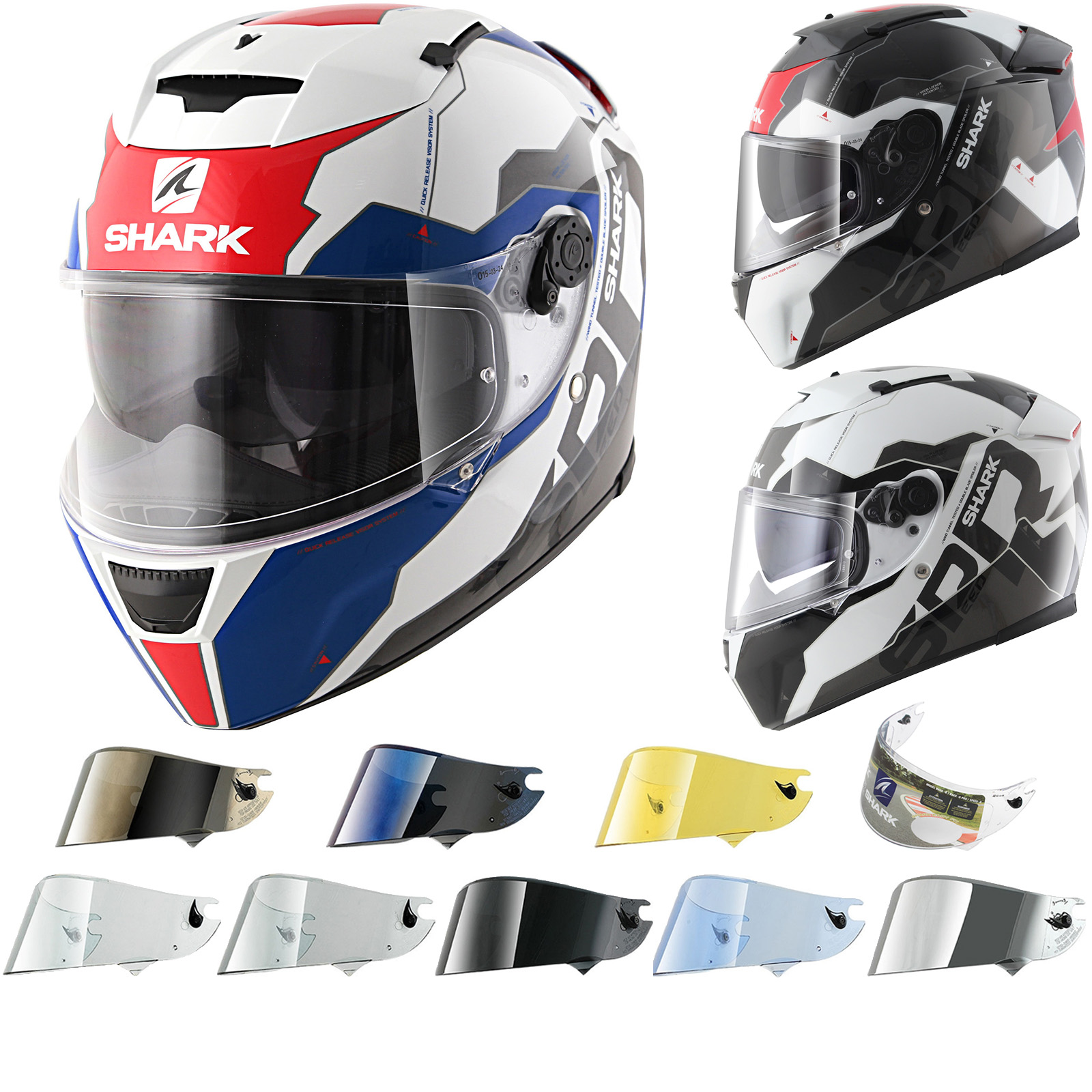 shark speed r sauer ii motorcycle helmet visor speed r. Black Bedroom Furniture Sets. Home Design Ideas
