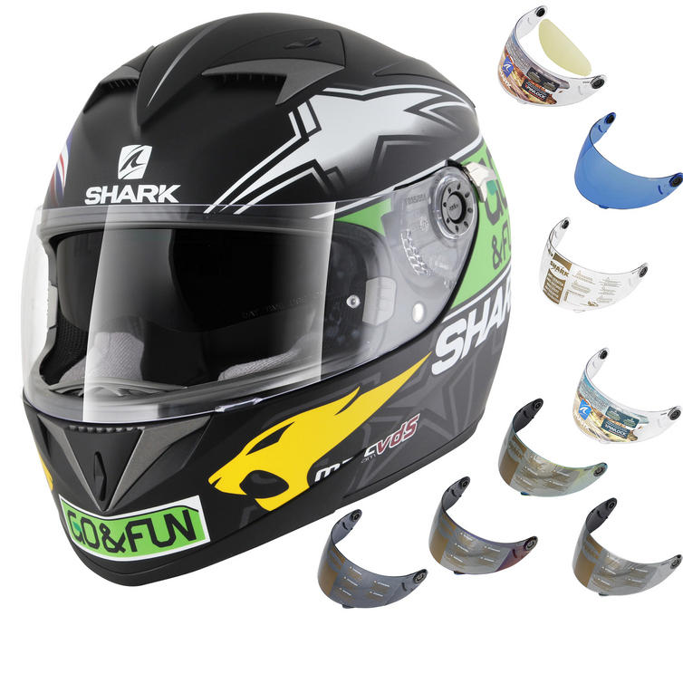 Shark S700-S Redding Valencia Motorcycle Helmet & Visor