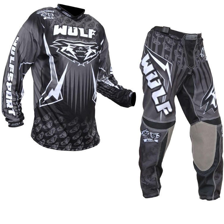 Wulf Arena Adult Black Motocross Kit