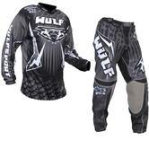 Wulf Arena Adult Black Motocross Kit