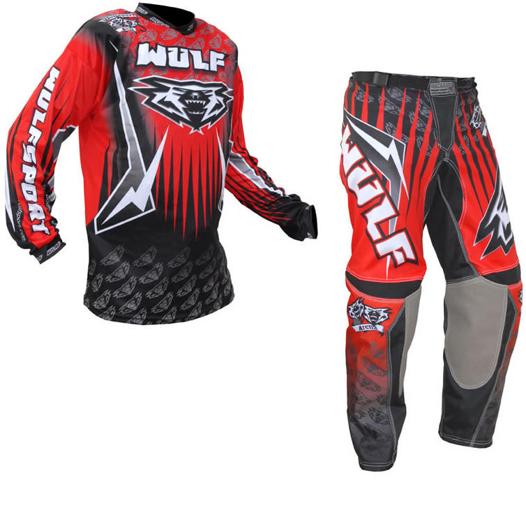 Wulf Arena Adult Red Motocross Kit