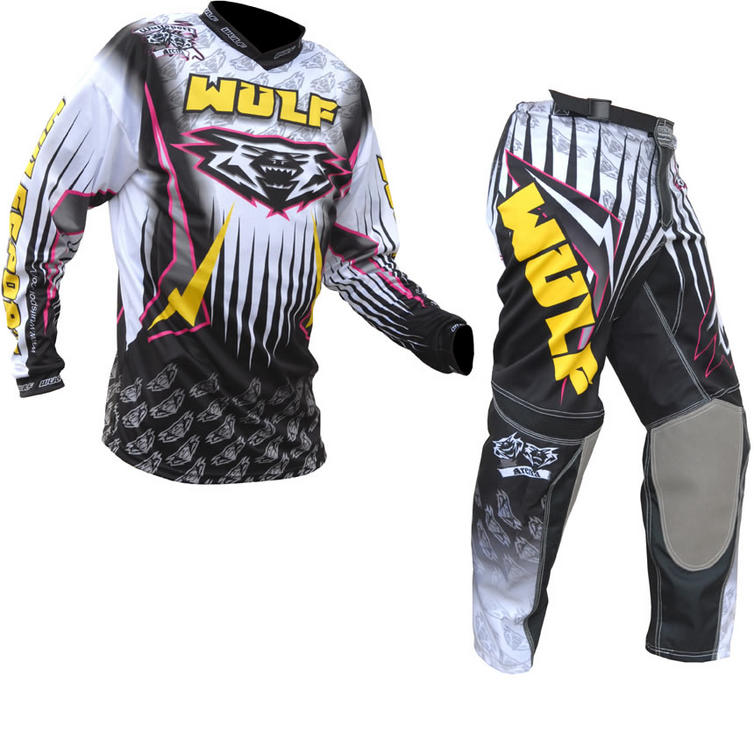 Wulf Arena Adult Yellow Motocross Kit