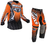 Wulf Arena Adult Orange Motocross Kit