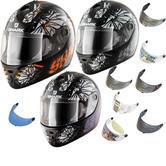 Shark S600 Poonky Motorcycle Helmet & Visor