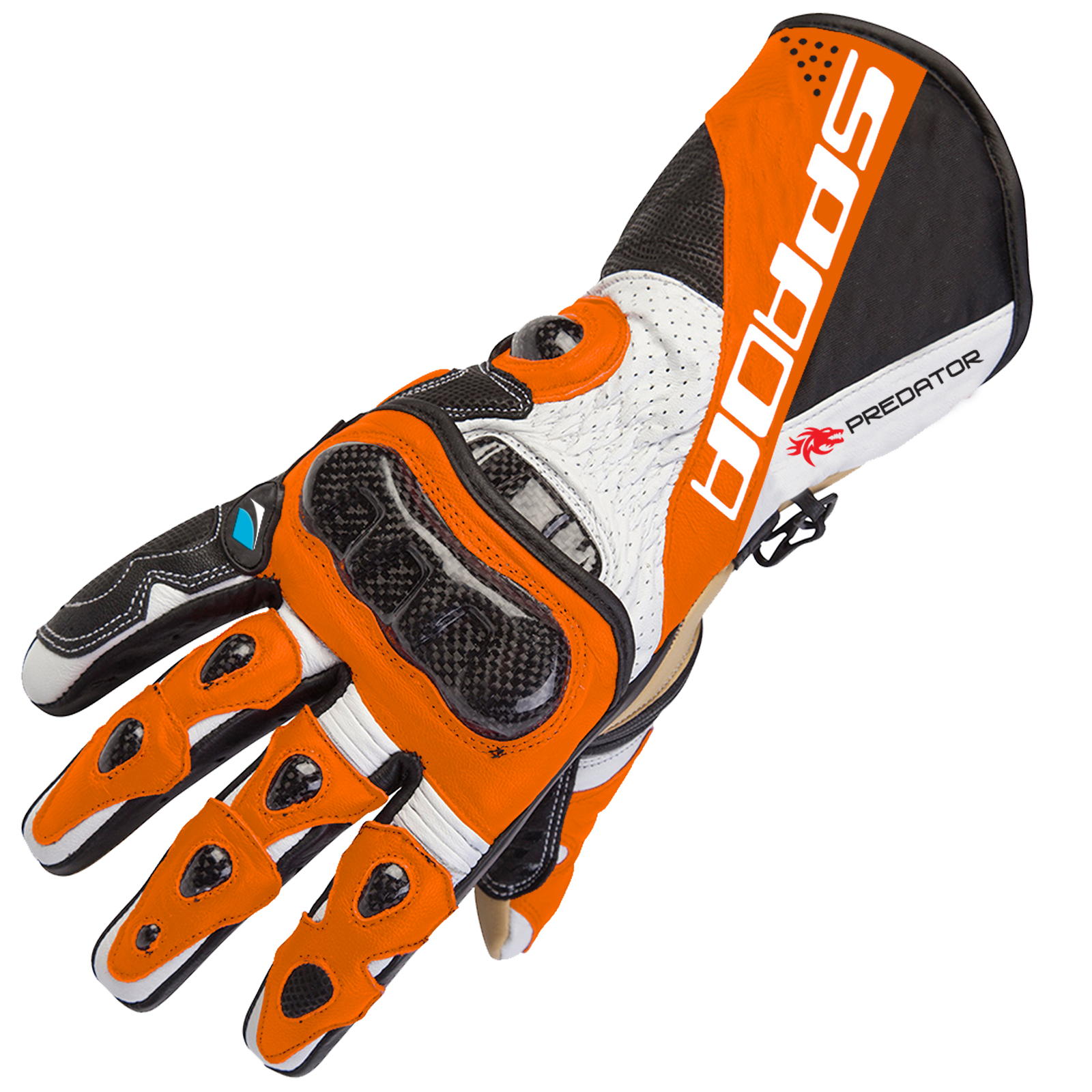 Motorcycle gloves for summer - Spada Predator 2 Leather Motorcycle Gloves Motorbike Race