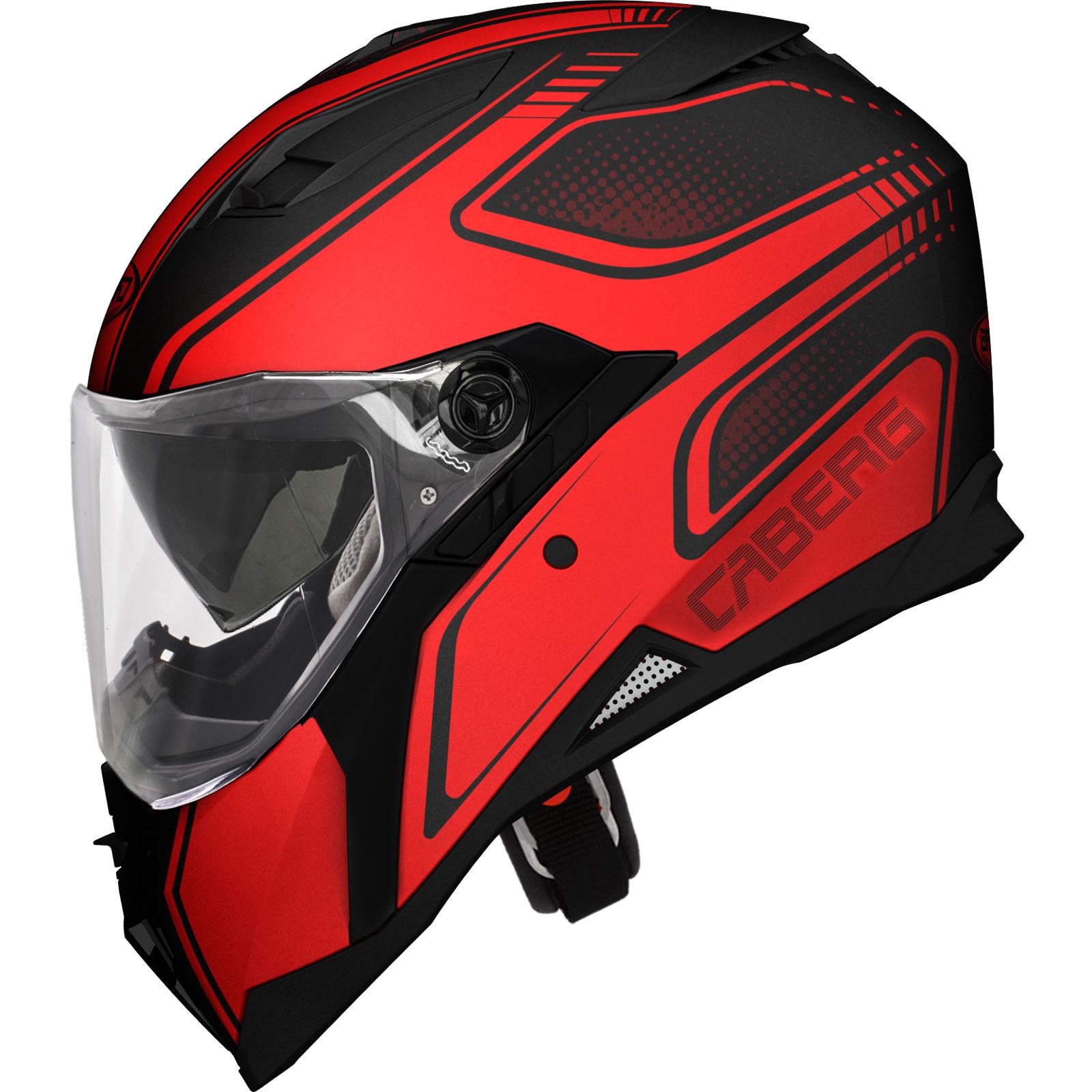 Red Visor Motorcycle Helmet