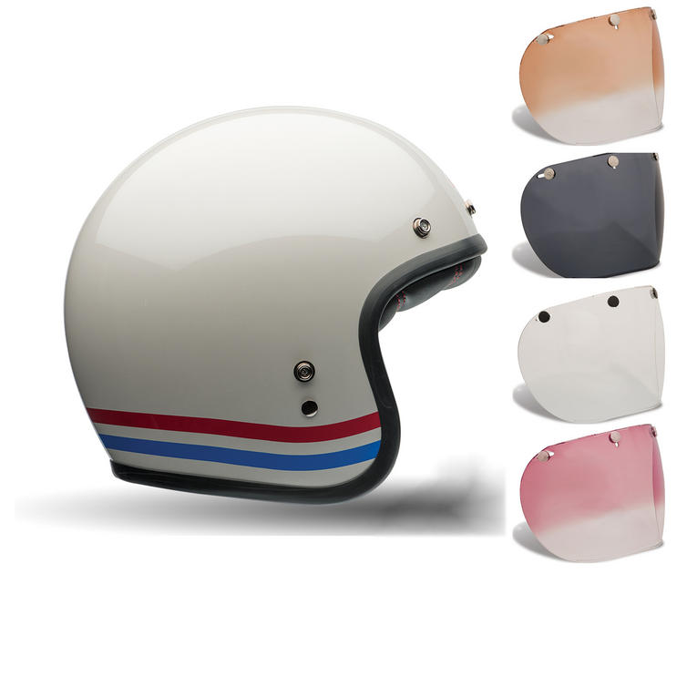 Bell Custom 500 Stripes Motorcycle Helmet Retro Visor Kit