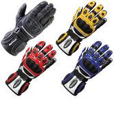 Buffalo Bay Leather Motorcycle Gloves