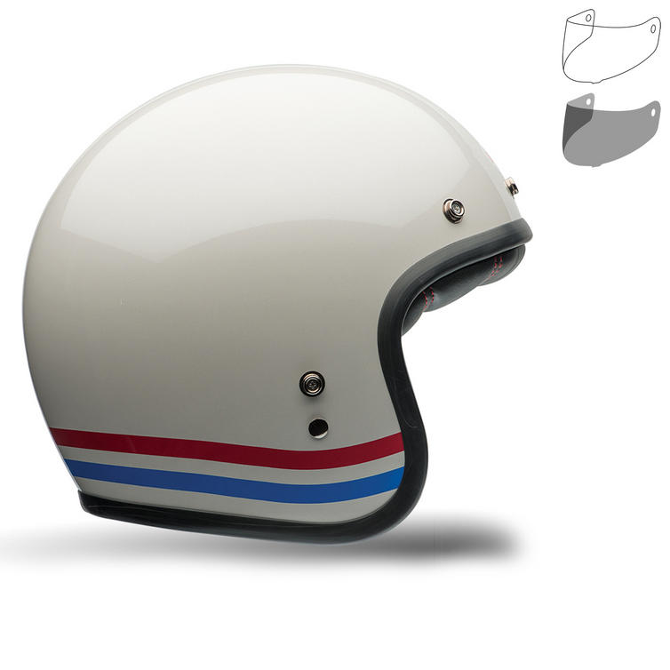 Bell Custom 500 Stripes Motorcycle Helmet MXL Visor Kit