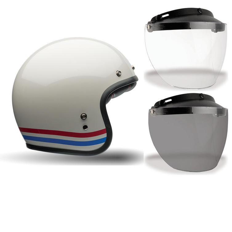 Bell Custom 500 Stripes Motorcycle Helmet MXL Visor Kit