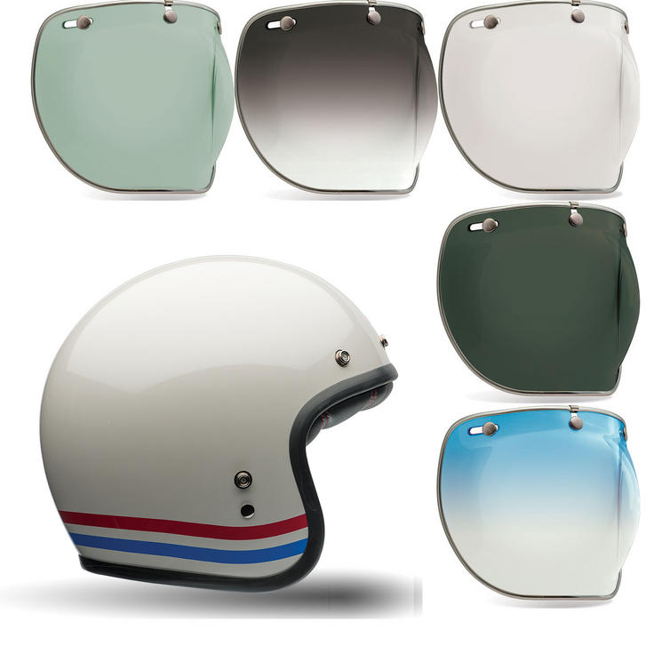 Bell Custom 500 Stripes Motorcycle Helmet Bubble Deluxe Visor Kit