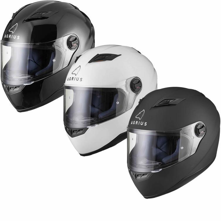 Agrius Rage Solid Motorcycle Helmet (Pinlock Ready)