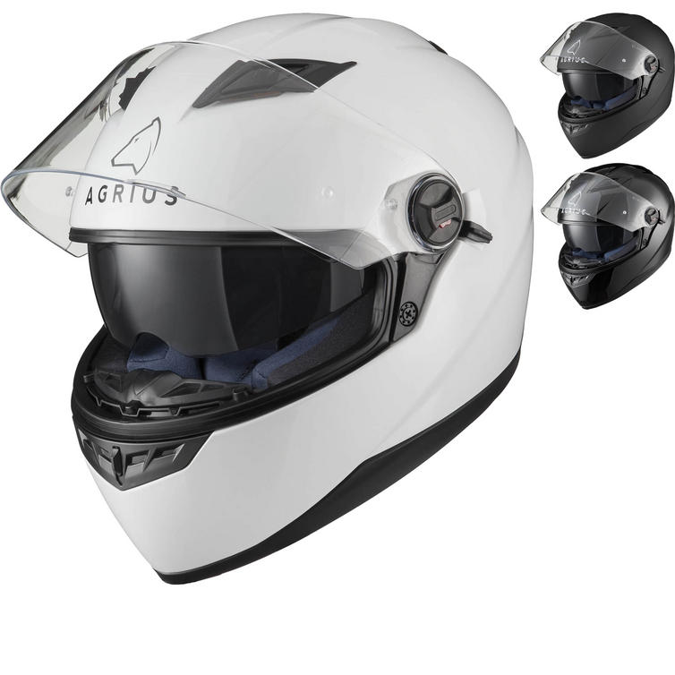 Agrius Rage SV Solid Motorcycle Helmet (Pinlock Ready)