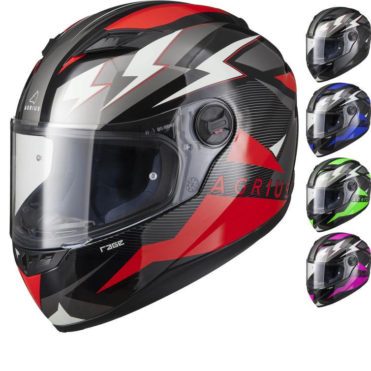 Agrius Rage Voltage Motorcycle Helmet (Pinlock Ready)