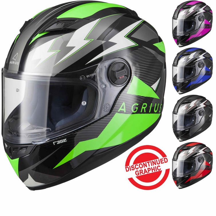 Agrius Rage Voltage Motorcycle Helmet (Pinlock Ready)
