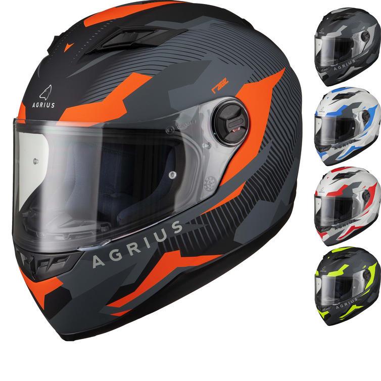 Agrius Rage Tracker Motorcycle Helmet (Pinlock Ready)