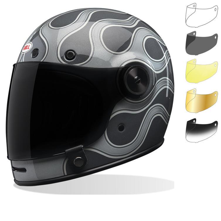 Bell Bullitt SE Motorcycle Helmet & Bubble Visor Kit Black Tab