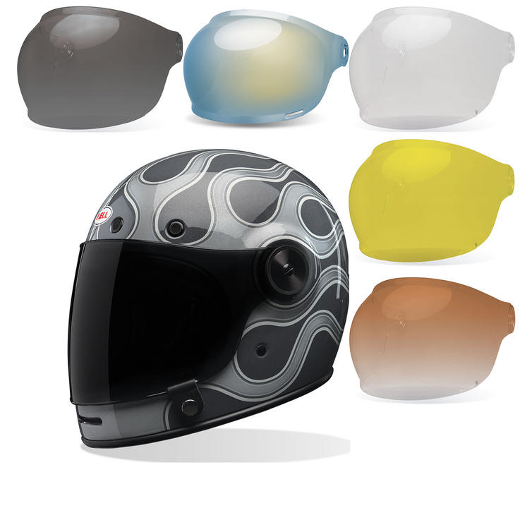 Bell Bullitt SE Motorcycle Helmet & Bubble Visor Kit Brown Tab